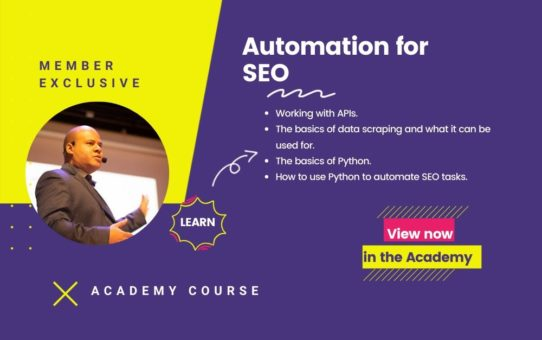 Automation for SEO Course