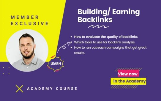 Building and Earning Backlinks Course