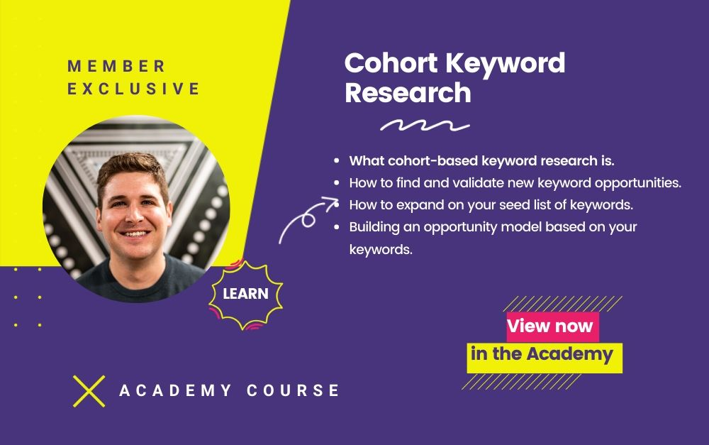 Cohort Keyword Research Course