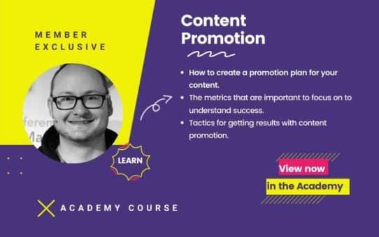 Content Promotion Course