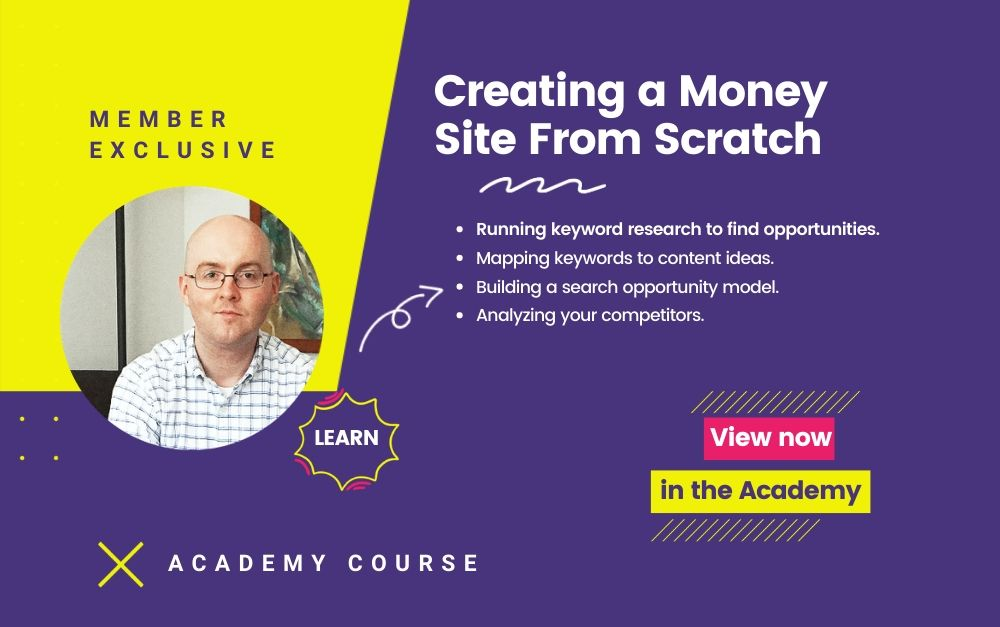 Creating a Money Site from Scratch Course