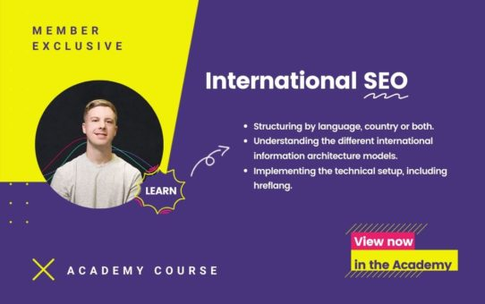 International SEO Course