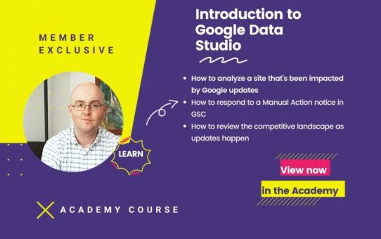 Introduction to Google Data Studio Course