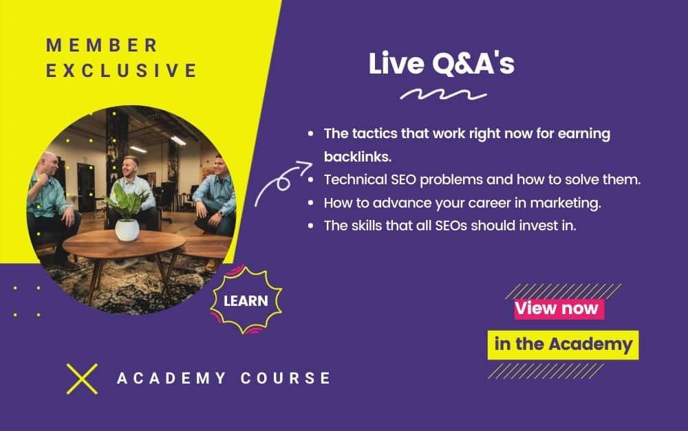 Live Q&A Course