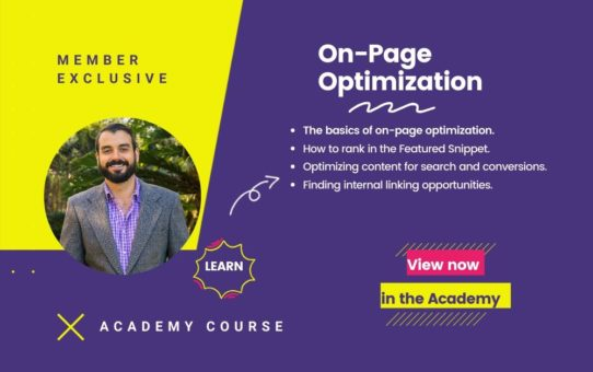 On Page Optimization Course