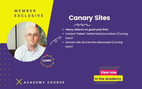 Canary Sites Course
