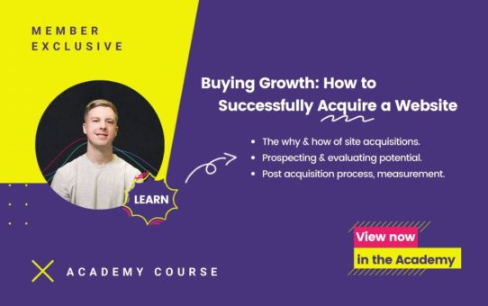 Website Acquisition Course